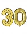 30 jaar folie ballonnen goud