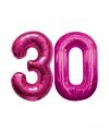 30 jaar folie ballonnen roze