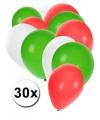 30x ballonnen in iraanse kleuren