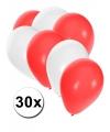 30x ballonnen in zwitserse kleuren