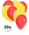 30x ballonnen rood en geel