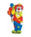 3d wanddecoratie clown met ballonnen