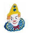 3d wanddecoratie clown met wit gezicht