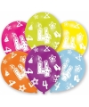 4 jaar leeftijd ballonnen 6 stuks