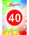 40 jaar deurposter 59 x 42 cm