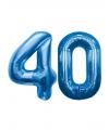 40 jaar folie ballonnen blauw