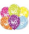 40 jaar leeftijd ballonnen 6 stuks