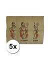 5 jute zakken voor sinterklaas 60 x 102 cm