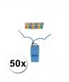 50 gekleurde scheidsrechter fluitjes aan koord