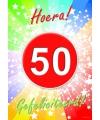 50 jaar deurposter 59 x 42 cm