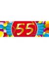 55 jaar sticker