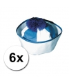 6 blauwe matrozen petjes