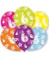 6 jaar leeftijd ballonnen 6 stuks