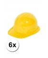 6 voordelige gele kinder bouwhelmen