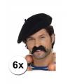 6 zwarte franse baretten luxe