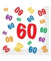 60 jaar servetten 16 stuks