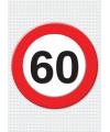 60 jaar verkeersbord mega deurposter
