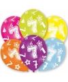 7 jaar leeftijd ballonnen 6 stuks
