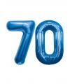 70 jaar folie ballonnen blauw
