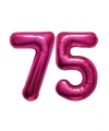 75 jaar folie ballonnen roze