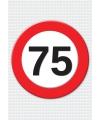 75 jaar verkeersbord mega deurposter