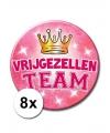8 roze vrijgezellen xxl buttons