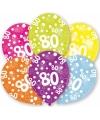 80 jaar leeftijd ballonnen 6 stuks