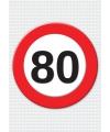 80 jaar verkeersbord mega deurposter