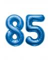 85 jaar folie ballonnen blauw