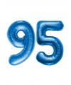 95 jaar folie ballonnen blauw