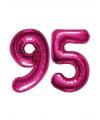 95 jaar folie ballonnen roze