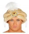 Arabische sultan tulband goud voor heren