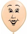 Ballon vrouwen gezicht 40 cm