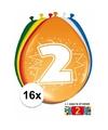 Ballonnen 2 jaar van 30 cm 16 stuks gratis sticker