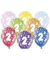 Ballonnen 2 met sterretjes 6x