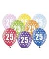 Ballonnen 25 met sterretjes 6x