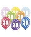 Ballonnen 30 met sterretjes 6x