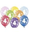 Ballonnen 4 met sterretjes 6x