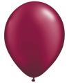Ballonnen donkerrood 50 stuks