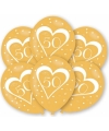 Ballonnen goud 50 jaar 6 stuks