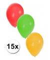 Ballonnen rood geel groen 15 stuks