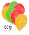 Ballonnen rood geel groen 30 stuks