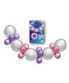 Ballonnen slinger guirlande roze paars