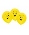 Ballonnen smiley thema 6 stuks
