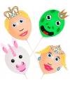 Ballonset prins en prinses 4 stuks