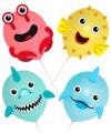 Ballonset zeedieren 4 stuks