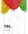Ballonstaafjes wit 10 stuks