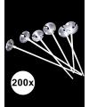Ballonstaafjes wit 200 stuks
