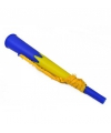Blauw met gele supporters toeter 23 cm