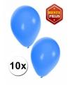 Blauwe ballonnen 10 stuks